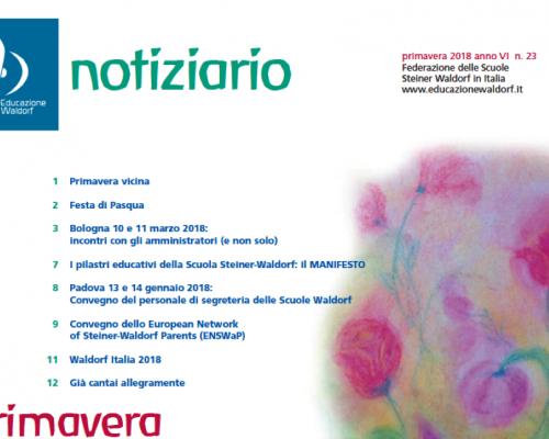 Primavera 2018 - Notiziario della Federazione delle Scuole Steiner Waldorf in Italia