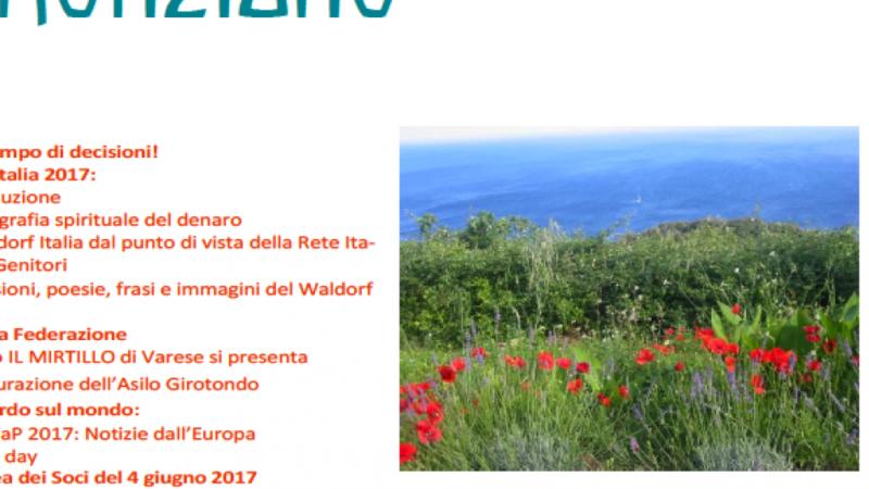 Estate 2017 - Notiziario n. 20 delle Scuole Waldorf