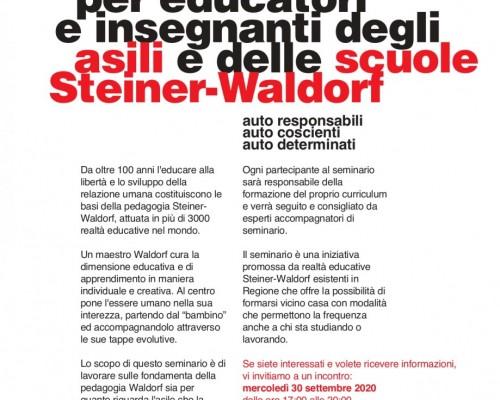 Formazione per educatori e insegnanti degli asili e delle scuole Steiner-Waldorf
